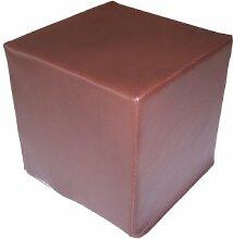 Insula Sana Sitzwürfel 45x45x45 cm - Kunstleder braun