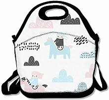 Insulated Neoprene Lunch Bag Thermal Carrying