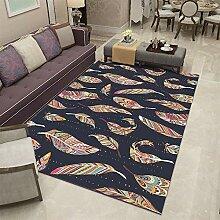 Insun Teppich mit Bordüre Moderner Abwaschbarer