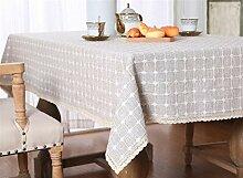 Insun Tischdecke aus Baumwolle und Leinen