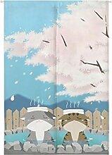 Insun Tür Vorhänge Japanische Baumwolle Leinen