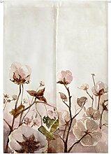 Insun Tür Vorhänge Japanische Noren Vorhänge Tapisserie Baumwoll Leinen Raumteiler Baumwoll Blumen 80cm X 150cm
