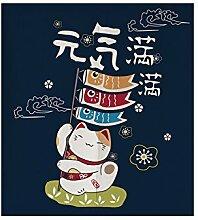 Insun Tür Vorhänge Tapisserie Baumwolle Leinen Zimmer Divider Japanische Noren Lebhafte Katze 85cm X 120cm