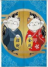 Insun Tür Vorhang Japanische Baumwolle Leinen