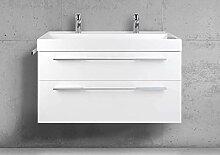 Intarbad Badmöbel Set 100 cm Doppelwaschbecken
