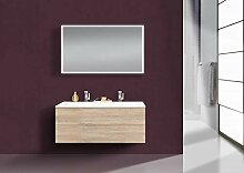 Intarbad CUBO Design Badmöbel Set grifflos, 120