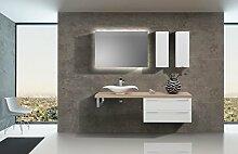 Intarbad Design Badezimmer Set inkl. Lichtspiegel,