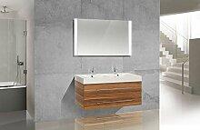 Intarbad Design Badmöbel Set Doppelwaschtisch 120