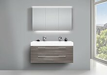 Intarbad Design Doppelwaschtisch Badezimmer Set