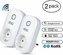 Intelligente Alexa Steckdose, FEYG WLAN Smart Plug