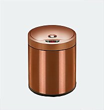 Intelligente große Induktion Mülleimer mit Deckel Creative Trash Can (Bernstein Gold) ( größe : 8L )