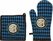 Inter 52601002121Set Grill, Baumwolle, Schwarz/Blau, 18x 30x 1cm, 2Einheiten