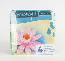 Inter Flower - Jetzt einsetzen ! Komplettes Wasserpflanzenpaket - Nymphaea - Seerose - ROSA, Teichpflanzen im Pflanzkorb für den Teich, Gartenteich, Garten - wunderschön