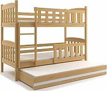 Interbeds Etagenbett QUBA 3 (für Drei Kinder)