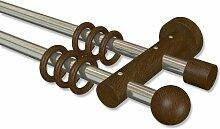 Interdeco Gardinenstange aus Metall / Holz in