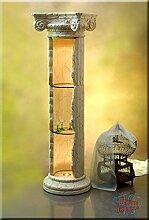 InterDecorShop Griechische Säule Säulenvitrine Säulenregal Bar Regal Rundregal Vitrine 164cm