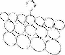 InterDesign 02883EU Classico Schalbügel, Schals, Krawatten, Gürtel, Tücher, Pashminas, Accessoires ohne Ziehfäden aufbewahren - 16 Schlaufen, Metall 34,29 x 1,78 x 27,18 cm, Chrom