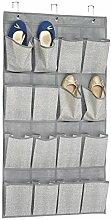 InterDesign 04353EU Aldo Schrank-Organizer aus Stoff für Schuhe, Sandalen, Hausschuhe, Ballerinas zum Hängen über die Tür, 16 Taschen, grau, 108.585 x 55.88 x 30.3 cm