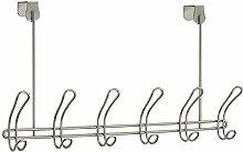 InterDesign 06934EU Classico 12er-Hakenleiste zum Hängen über die Tür, satinier