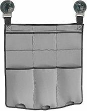 InterDesign 09530EU Turn-N-Lock Dusch-Caddy aus Gewebe für Shampoo, Conditioner, Seife Plastik 17,78 x 4,45 x 33,02 cm, Hellgrau/Dunkelgrau