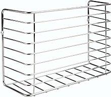 InterDesign 48910EU Classico Küchenschrank-Organizer für Gefrierbeutel / Frischhaltefolie / Aluminiumfolie, Stahl, chrom, 29.8 x 10.3 x 20.8 cm