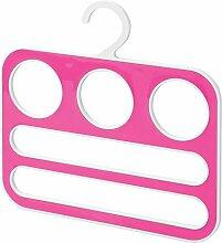 InterDesign 62822EU Remy Schal-Bügel Schrank-Organizer für Tücher, Schals, Pashminas, Tüchern, Accessoires - 5 Schlaufen, Plastik, weiß/rosa, 29,21 x,64 x 29,56 cm