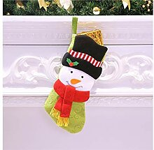 Interessant Big Head Weihnachten Socken Candy Bag