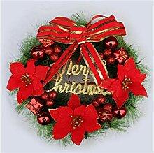Interessant Blume Weihnachten Garland Tür