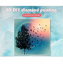 Interessant Bohrer Diamant Stickerei Landschaft