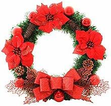 Interessant Bow-Knoten Weihnachten Garland Tür
