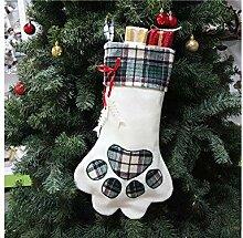 Interessant Dog Paw Print Weihnachten Socken