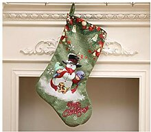 Interessant Druck Weihnachtsstrumpf Candy Bag