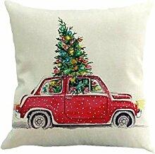 Interessant Weihnachtsbaum Leinen Kissenbezug