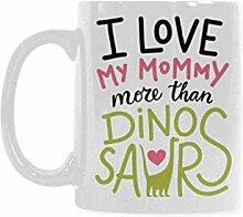 InterestPrint Diplodocus, rosa Herz I Love My