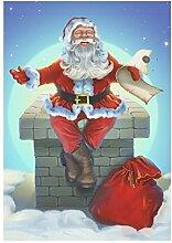 interestprint Vintage Christmas Weihnachts Stiefel mit Geschenk Polyester Garten Flagge Haus Banner 30,5x 45,7cm, Winter neue Jahr Fahne Deko Urlaub für Party Yard Home Outdoor Decor, Polyester, Multi 8, 28x40