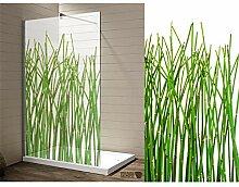 Interfoil Dekor Duschkabine Bambus, Sichtschutz
