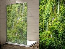 Interfoil hochwertiger Duschwanddruck Regenwald,