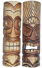 Interlifestyle 2 Tiki Masken 50cm im Maui Style