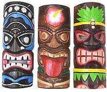 Interlifestyle 3 Tiki Masken 30cm im Hawaii Style
