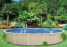 Interline 50001615 rund Pool Sunlake Durchmesser 4,60m, Tiefe 1,32m, Set ohne Sandfilter, Wasserinhalt ca. 20m³