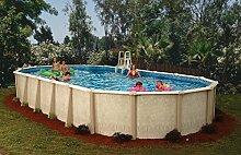 Interline 50001620 oval Pool Sunlake Durchmesser 6,10m x 3,60m, Tiefe 1,32m, Set ohne Sandfilter, Wasserinhalt ca. 21m³