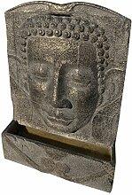 Interline Garten/Terrassen Brunnen Polystone Buddha, grau