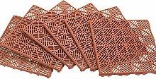 Interlocking Terrasse Tile Bodenbelag–6pc,