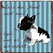 Interluxe 20x20cm METALLSCHILD Lass DEN Hund Nicht