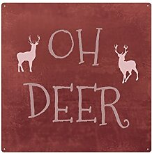 INTERLUXE 20x20cm METALLSCHILD OH DEER -