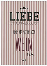 Interluxe 42x30cm Holzschild Liebe IST AUSVERKAUFT