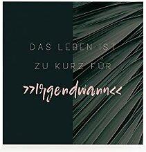 Interluxe HOLZBLOCK Dekoration DAS Leben IST ZU
