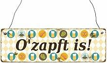 INTERLUXE Holzschild O'ZAPFT IS * 3 *
