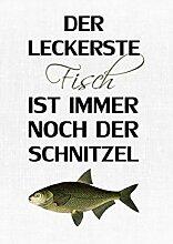 INTERLUXE LEINWAND DER LECKERSTE FISCH Küche