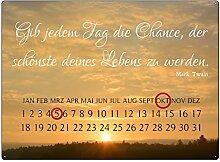 Interluxe WANDKALENDER Blechschild Kalender GIB